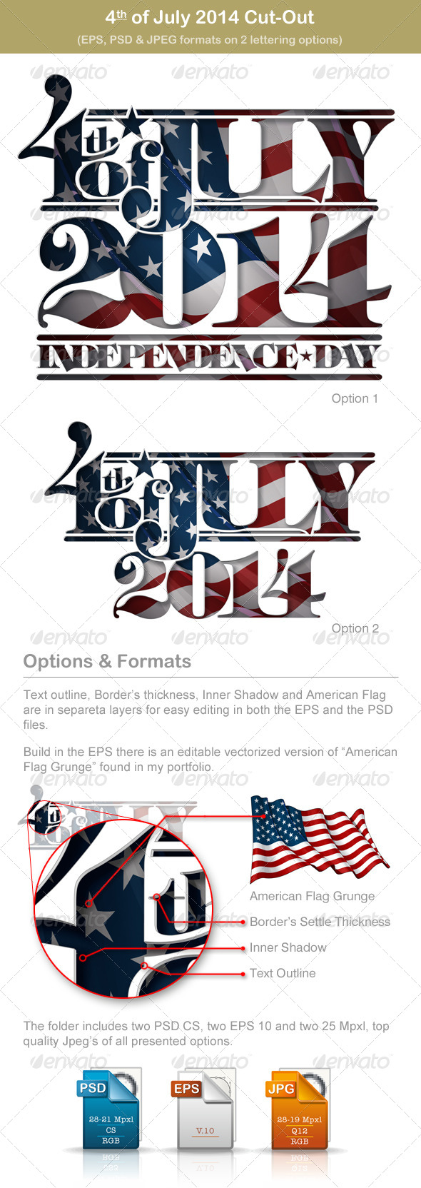 GraphicRiver 4th of July 2014 Independence Day Cut-Out 7357924