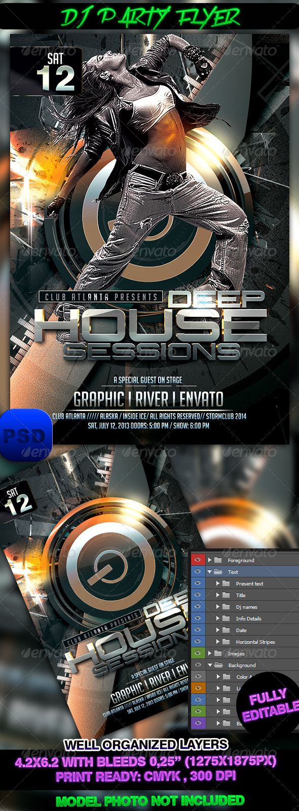 GraphicRiver DJ Party Flyer 7358098