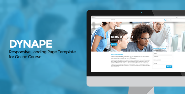 ThemeForest Dynape Responsive Landing Page for Course 7260810
