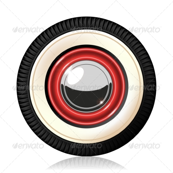 GraphicRiver Retro Car Wheel 7358776