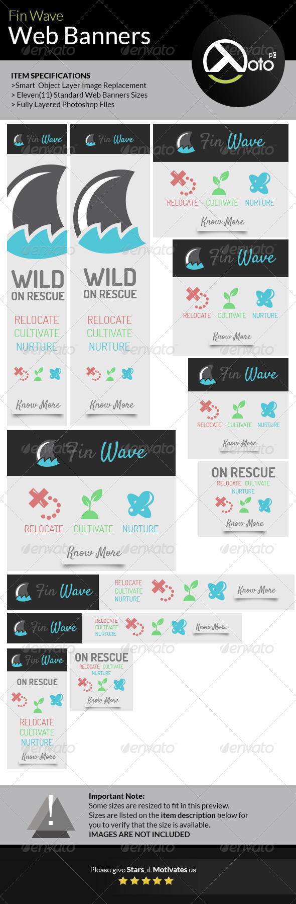 GraphicRiver Fin Wave Wildlife Rescue Web Banners 7359128