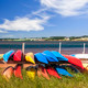 Kayaks at Atlantic shore in Prince Edward Island - PhotoDune Item for Sale
