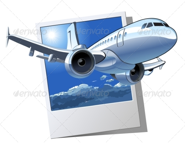 GraphicRiver Vector Cartoon Airliner 7359189