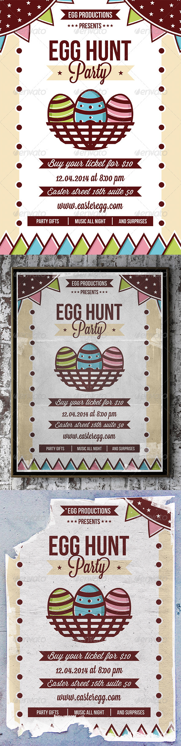 GraphicRiver Easter Party Flyer 7359331