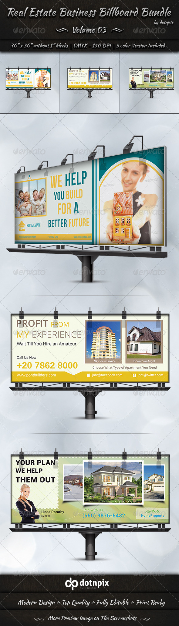 GraphicRiver Real Estate Business Billboard Bundle Volume 3 7359908