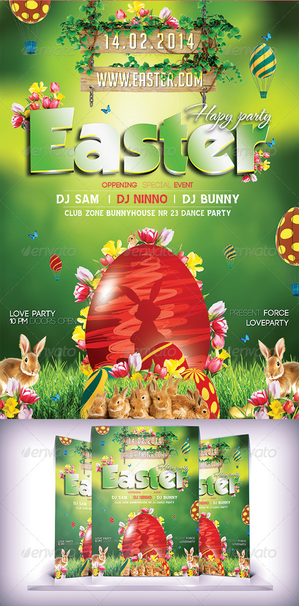 GraphicRiver Easter Day Flyer 7360395