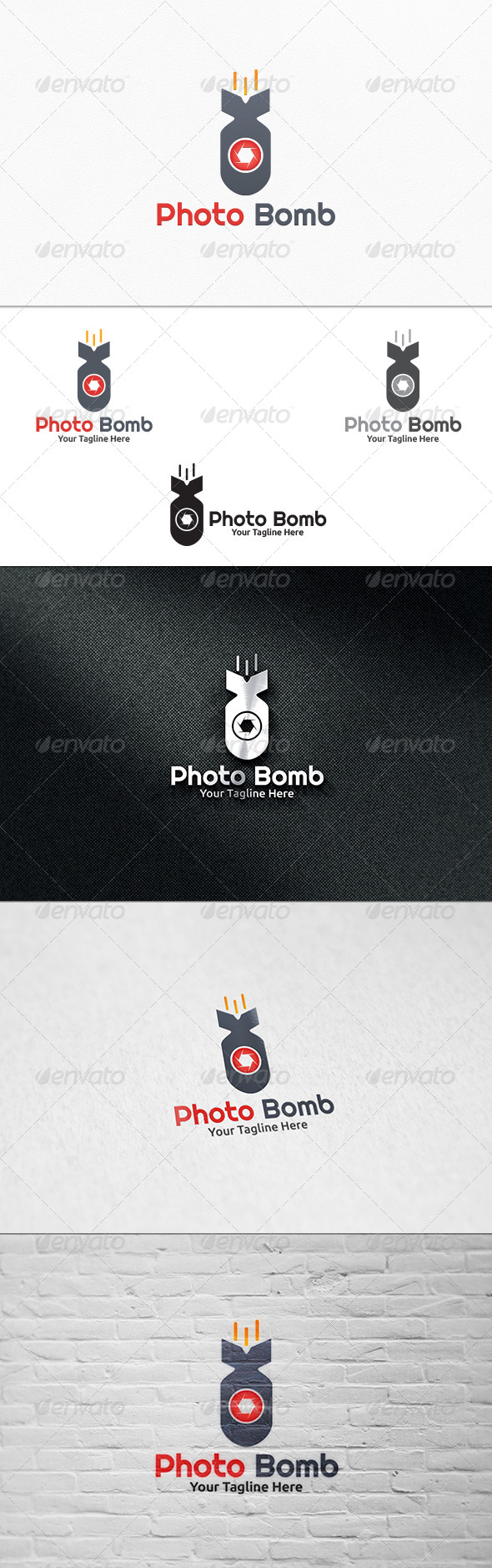 GraphicRiver Photo Bomb Logo Template 7360449