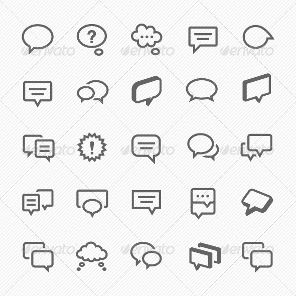 GraphicRiver Talk and Speech Bubble Icons 7360568