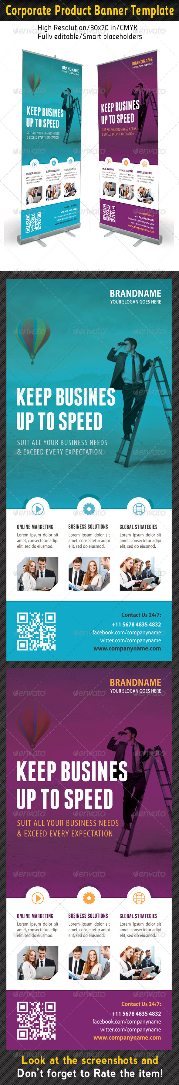 GraphicRiver Corporate Multipurpose Banner Template 62 7360700