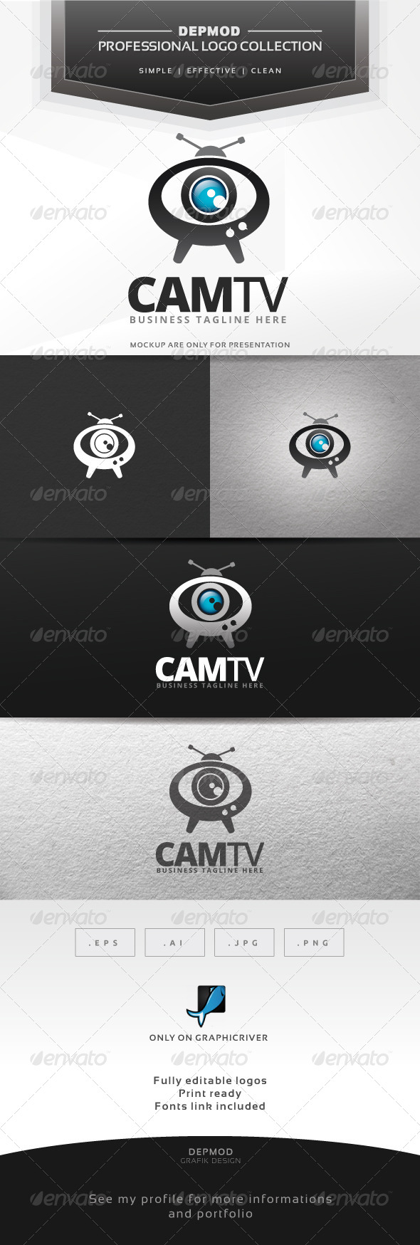 GraphicRiver Cam TV Logo 7360727