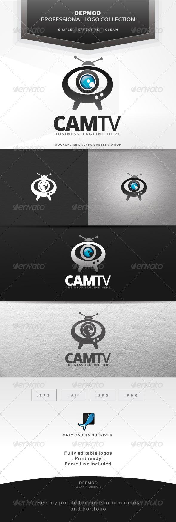 GraphicRiver Cam TV Logo 7360727