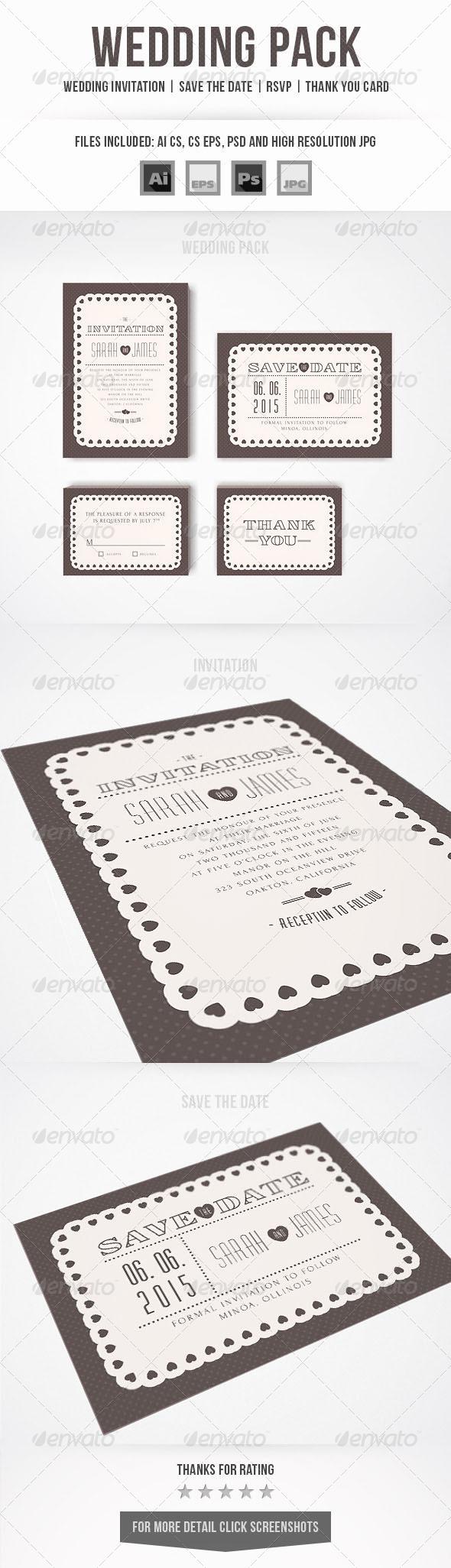 GraphicRiver Wedding Invitation Set 7350642