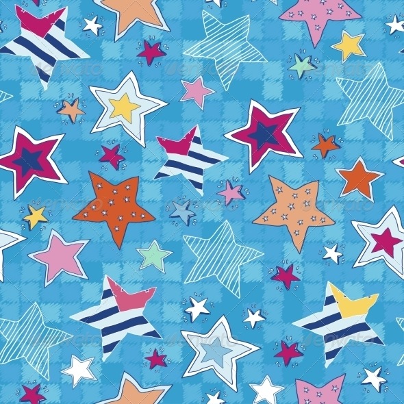 GraphicRiver Colorful stars seamless pattern 7360788