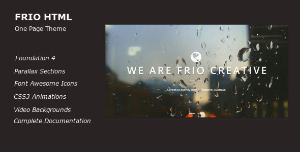 ThemeForest Frio One Page Parallax Responsive Template 7298727