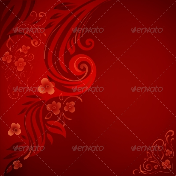 GraphicRiver Abstract Background with Flowers and Leaves 7361470