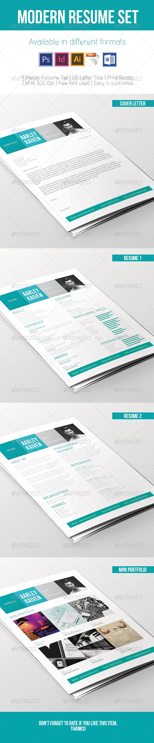 GraphicRiver Modern Resume Set 7361653