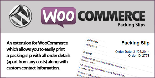 CodeCanyon WooCommerce Packing Slips 7361669