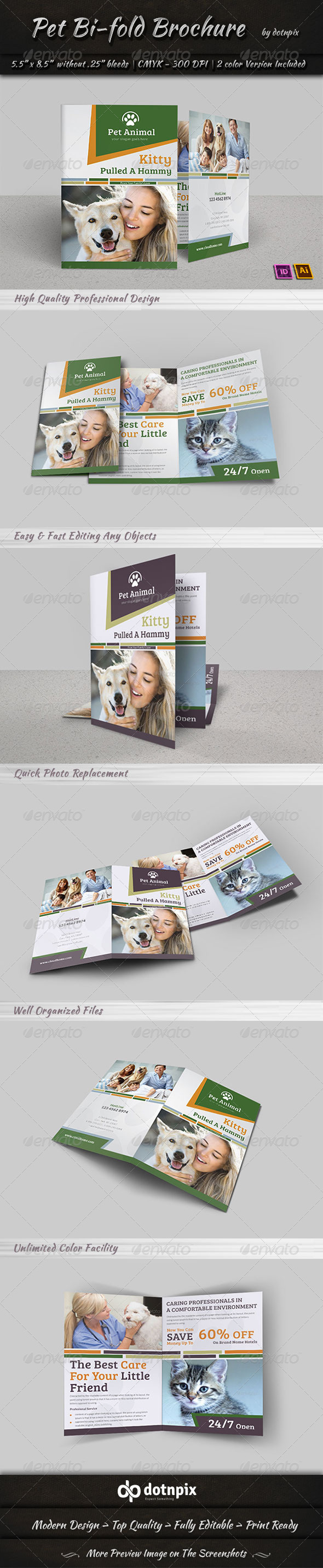 GraphicRiver Pet Bi-Fold Brochure 7361728