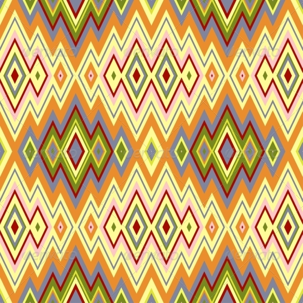 GraphicRiver Color Abstract Retro Zigzag Background 7361757