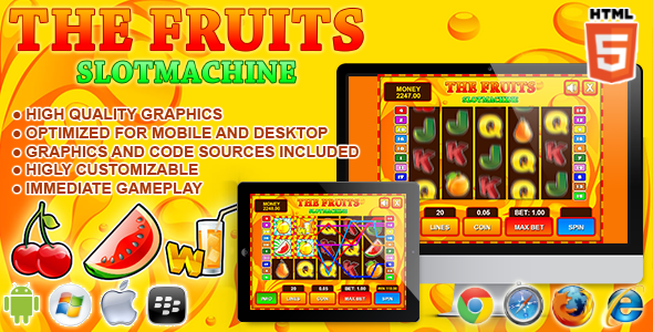CodeCanyon Slot Machine The Fruits HTML5 Game 7311007