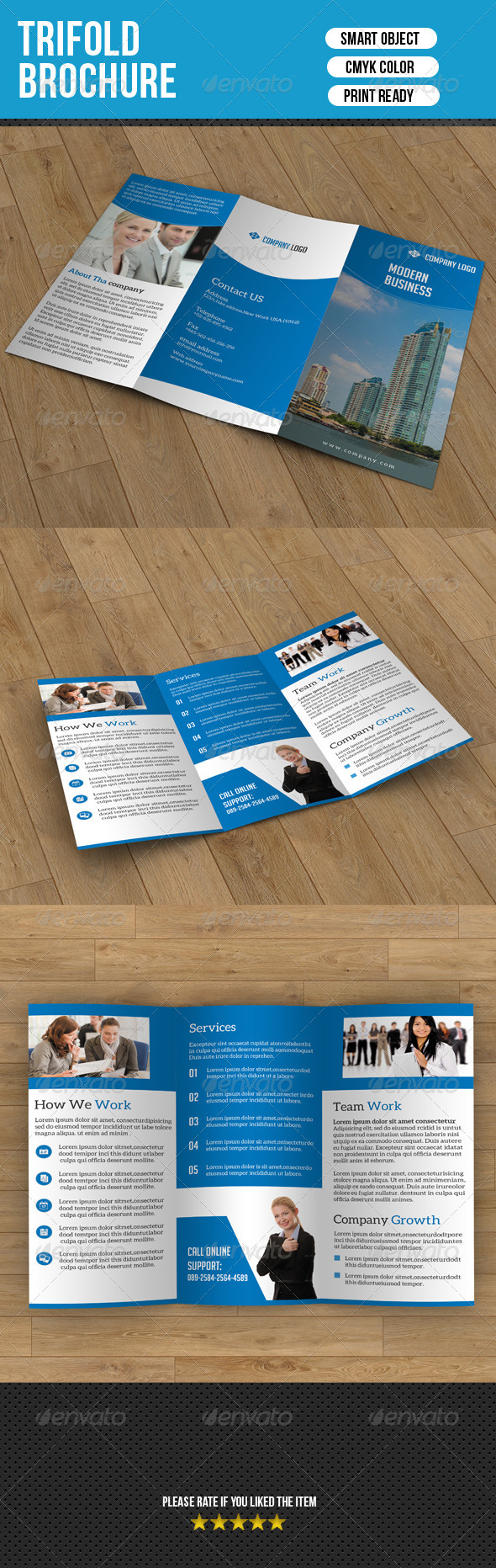 GraphicRiver Trifold Brochure-Business 7361898