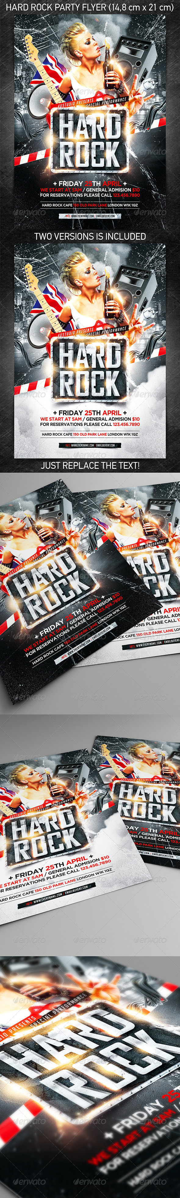 GraphicRiver Hard rock party flyer 7361905