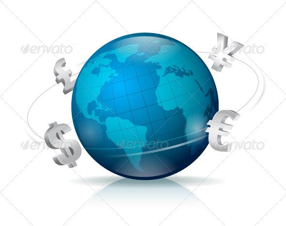 GraphicRiver Forex Globe 7362002