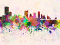 Austin skyline in watercolor background - PhotoDune Item for Sale