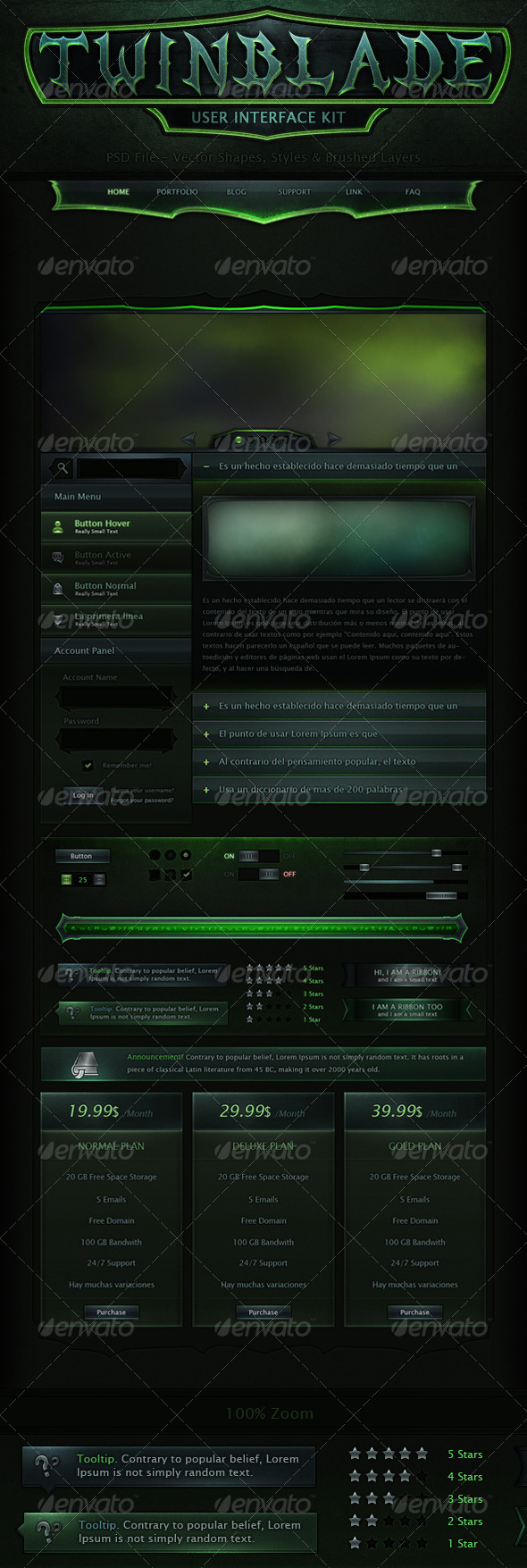 GraphicRiver Twinblade UI Kit 7362230