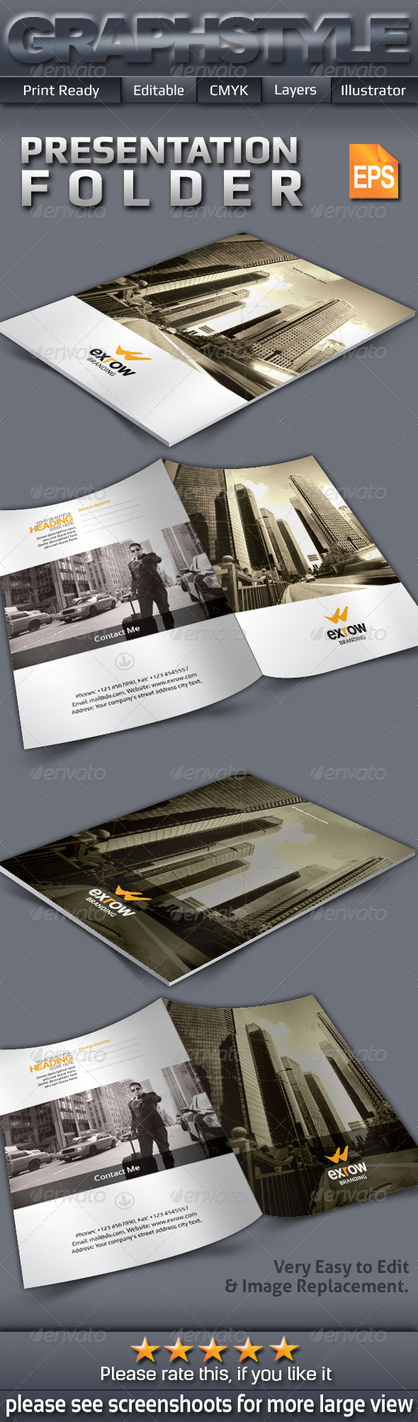 GraphicRiver Exrow Presentation Folder 7362237
