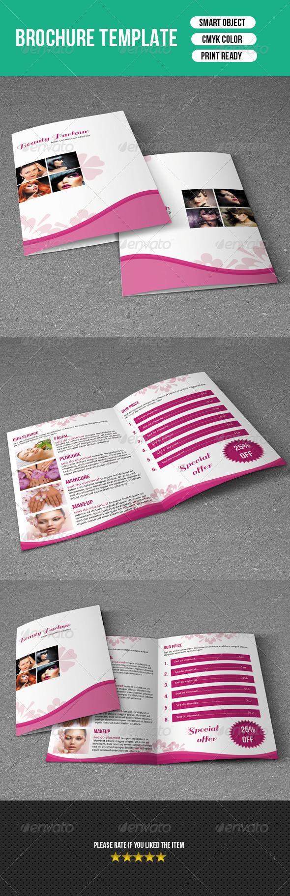 GraphicRiver Trifold Brochure-Beauty Salon 7362333