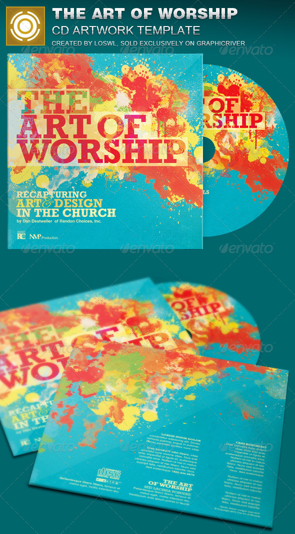 GraphicRiver The Art of Worship CD Artwork Template 7362391