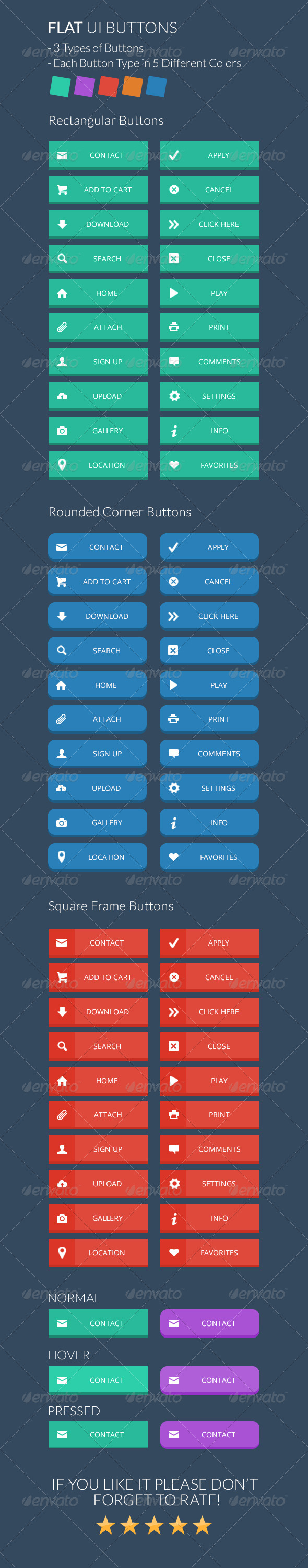 GraphicRiver Flat Buttons Set 7362456