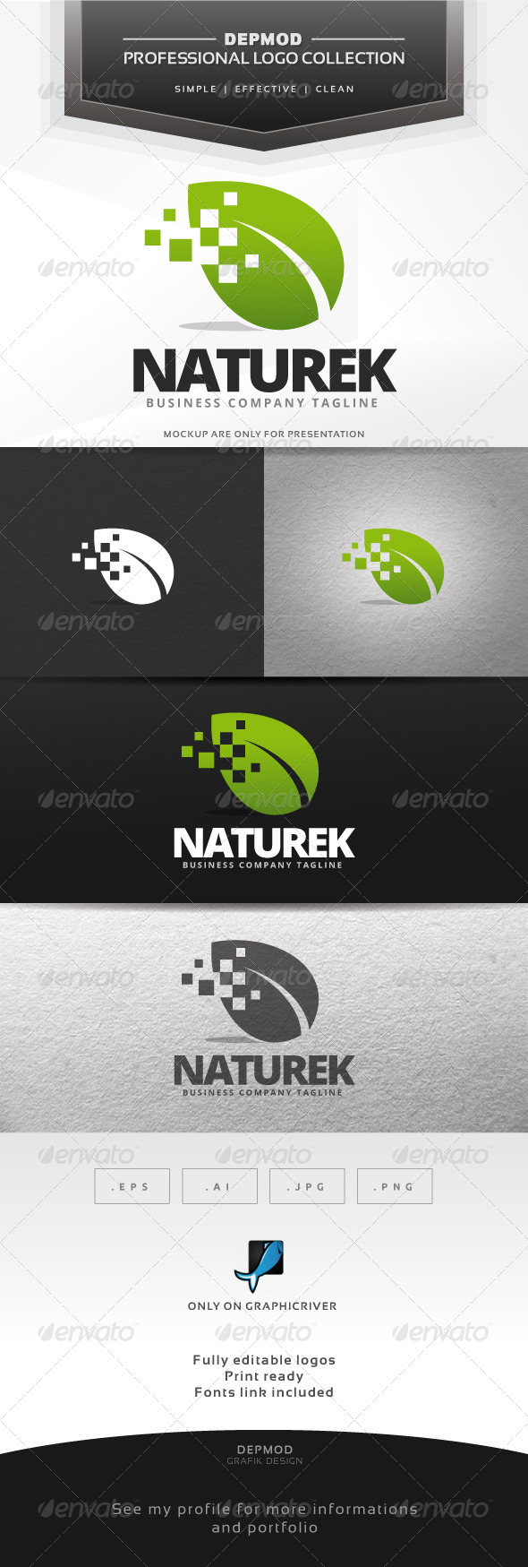 GraphicRiver Naturek Logo 7362627