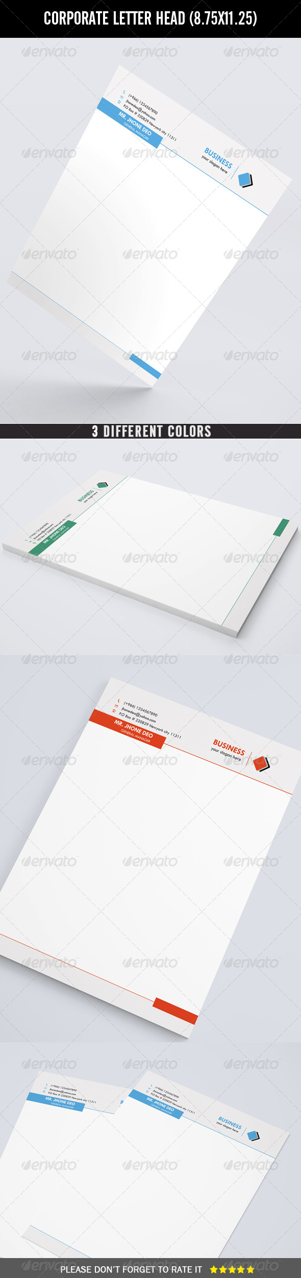 GraphicRiver Corporate Letter Head 7362877