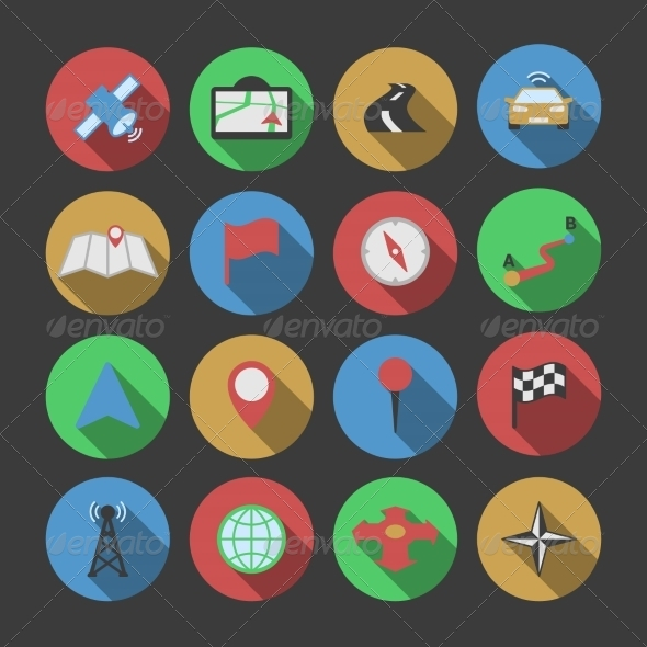 GraphicRiver Navigation Icon Set 7362886