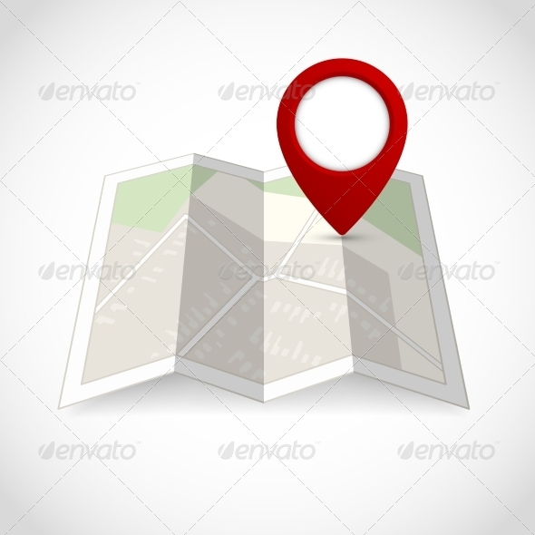 GraphicRiver Map with Pin Symbol 7362889