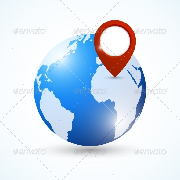 GraphicRiver Globe Navigation Pin 7362891
