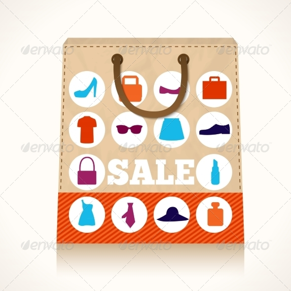 GraphicRiver Shopping Clothing Bag Design 7362912