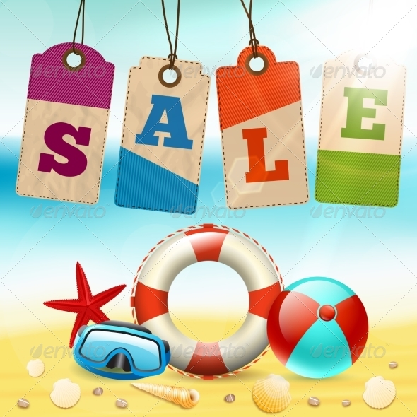 GraphicRiver Summer Sale Wallpaper 7362921