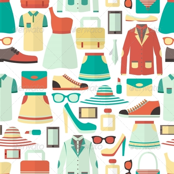 GraphicRiver Shopping Seamless Pattern 7362930