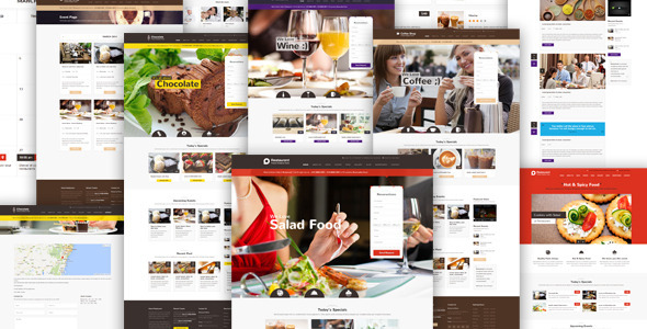ThemeForest Restaurant Responsive WordPress Theme 7262356