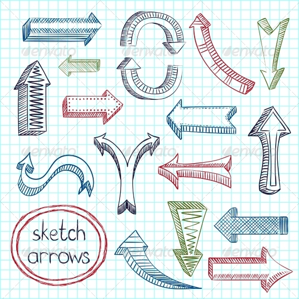 GraphicRiver Arrows Icon Set Sketch 7362948