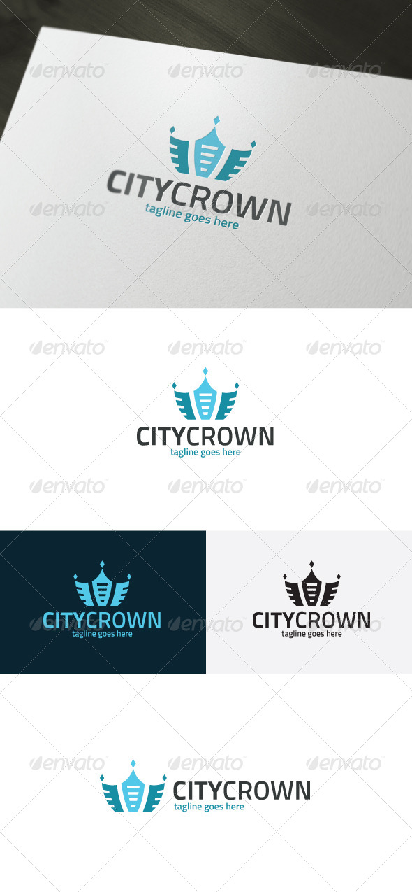 GraphicRiver City Crown Logo 7363353