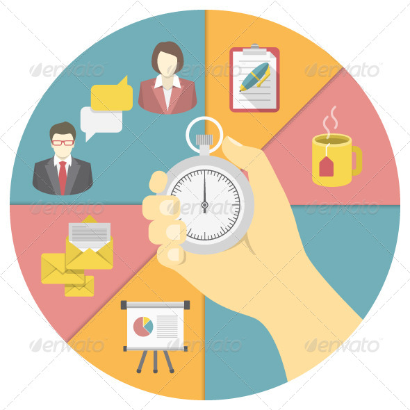GraphicRiver Time Management Concept 7363586
