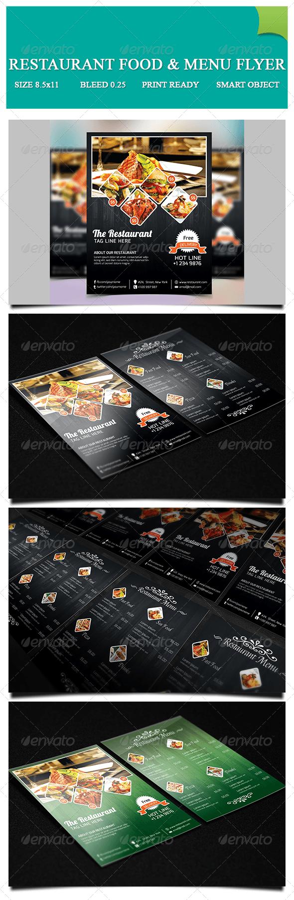 GraphicRiver Restaurant Food & Menu Flyer 7271353