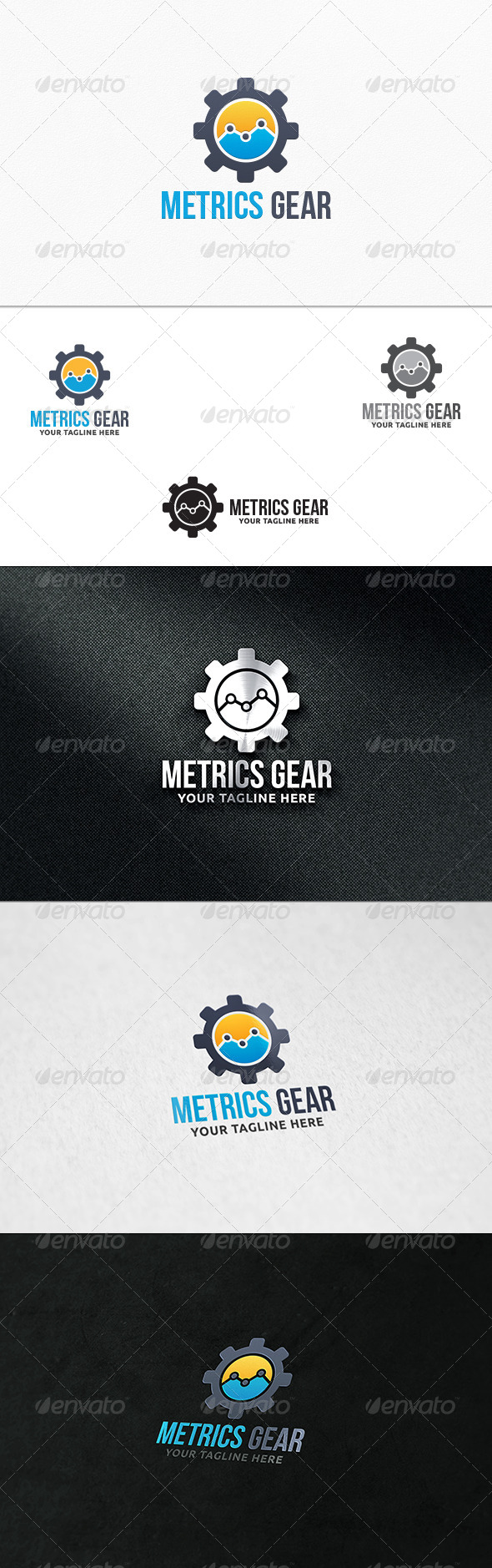 GraphicRiver Metrics Gear Logo Template 7363895