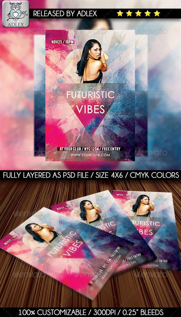 GraphicRiver Futuristic Colorful Flyer 7354316
