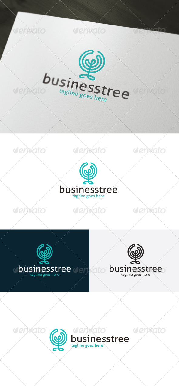 GraphicRiver Business Tree Logo 7363970