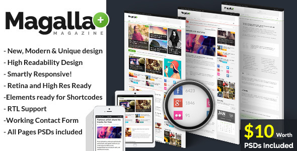 ThemeForest Magalla Magazine News and Business Blog HTML 7102024